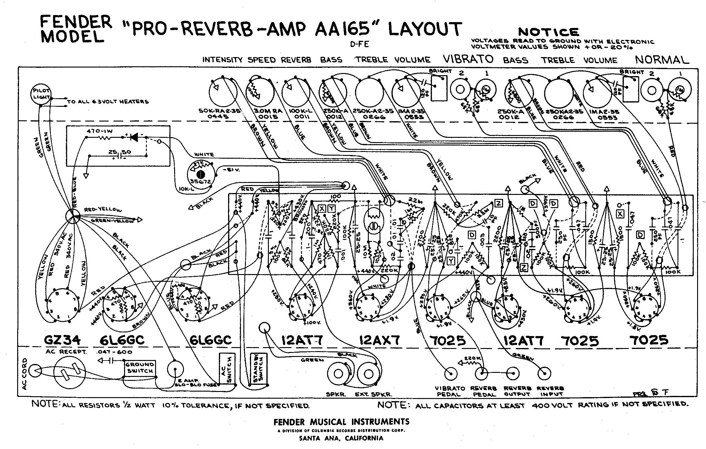Fender pro reverb aa165. pro-reverb-aa165-layout.